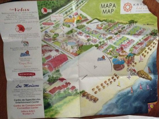 Hotel Krystal Puerto Vallarta Mapa De Todo El Te Lo Dan A Map Of