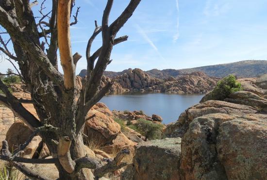 Point of Rocks Campground: Watson Lake taken from hiking trail