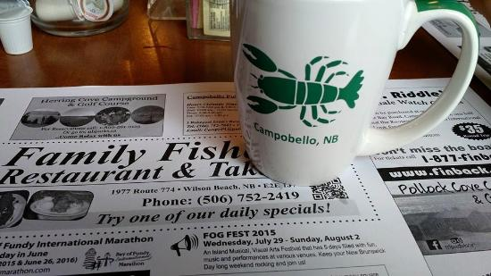 Family Fisheries Restaurant & Take Out: Fresh, hot coffee