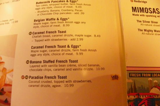 Silver Diner Incorporated: Menu selection