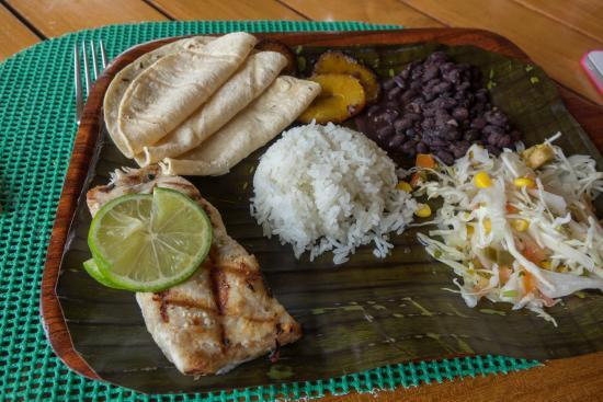 Alajuela, Costa Rica: Typical Costa Rica meal