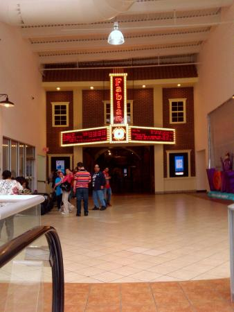 Paterson, NJ: Approaching theater entrance on second floor from escalator