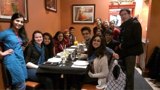 India Village Restaurant: End of the academic year dinner celebration with friends.