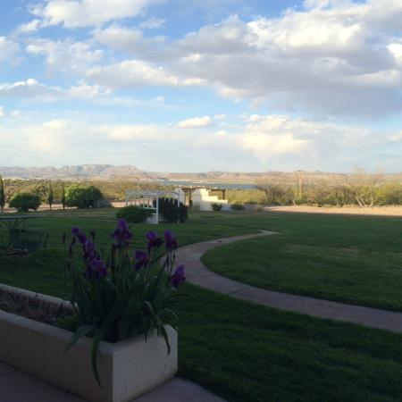 Elephant Butte Inn: view from lake-facing rooms