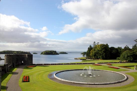 View of Lough Corrib and the grounds at Ashford Castle