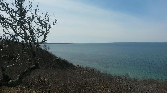 Chilmark, MA: New bench view from southern loop.