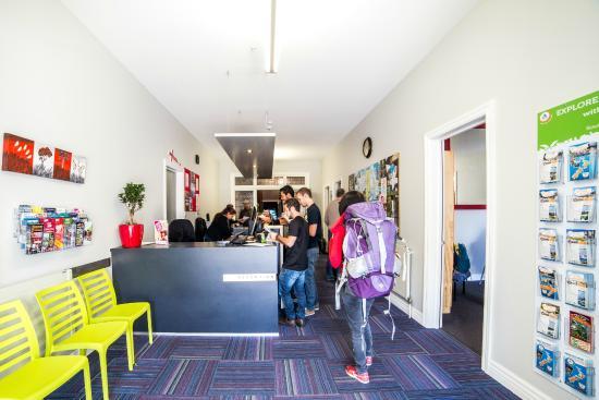 YHA Christchurch reception