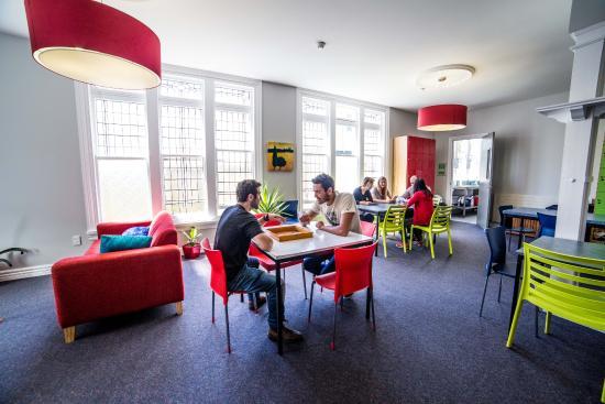 YHA Christchurch common room