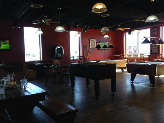Thunderhead Brewing Company: Upstairs for fun and games