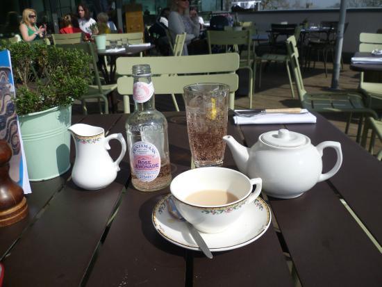Rooftop Restaurant Ashmolean My Tea And Rose Lemonade