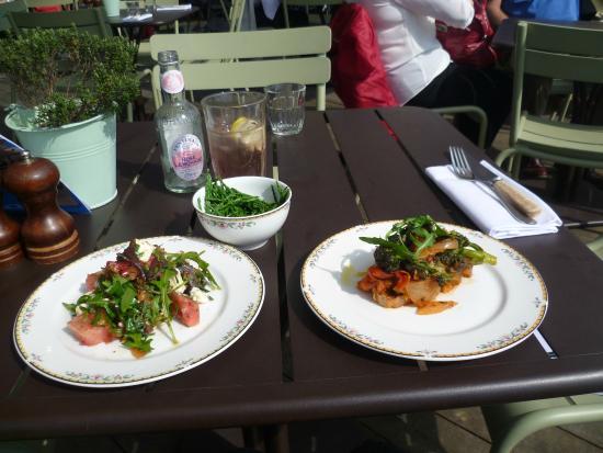 Rooftop Restaurant Ashmolean Samphire Bruschetta And Watermelon Salad