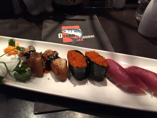Otoro Sushi: Unagi, tobiko, blue fin tuna