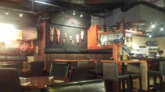 Jambo Grill & Paan House : The interior with African decoration