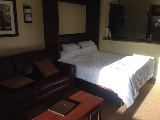 Tamarack Club: Murphy bed