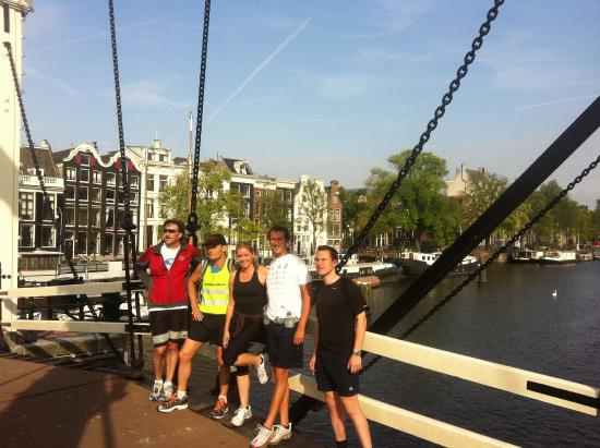 Tourist Run Amsterdam: On the skinny bridge