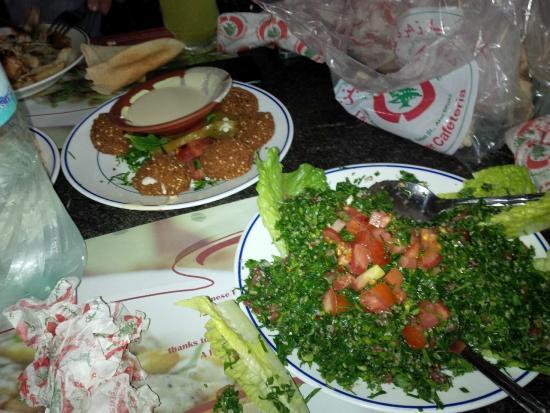 Lebanese Flower Khalidia: Falafel e Taboulleh libanese