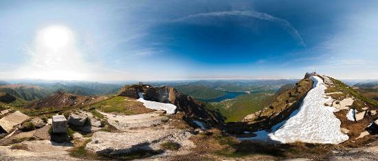 Mendrisiotto, สวิตเซอร์แลนด์: Vista dalla vetta del Monte Generoso