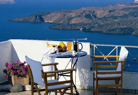 Theoxenia Boutique Hotel : View from terrace with breakfast