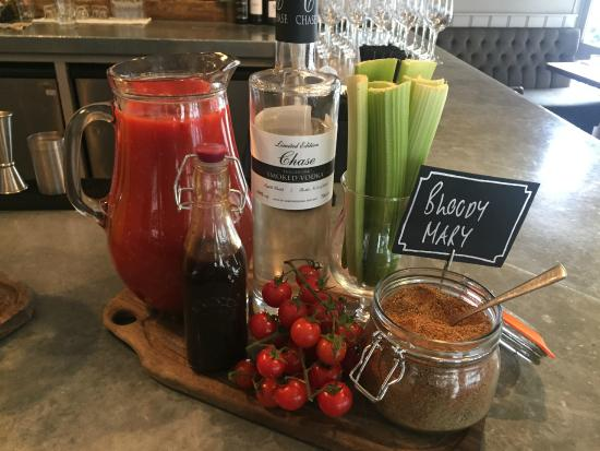 The Brown Cow Public House: bloody mary station