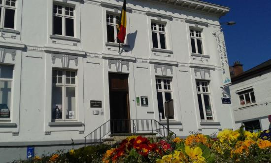 "Waterloo, Belgium: Front view of the ""Maison du Tourisme"" from the Chaussee de Bruxelles -"