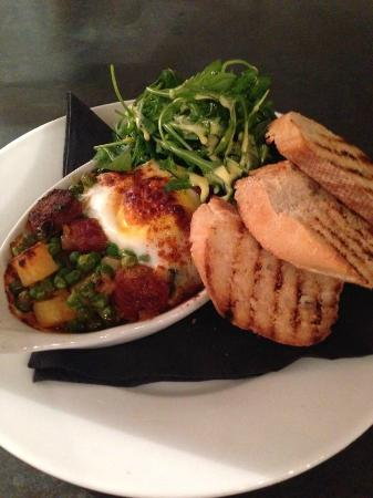 No 23 Bar and Bistro: Baked Duck Eggs, Chorizo
