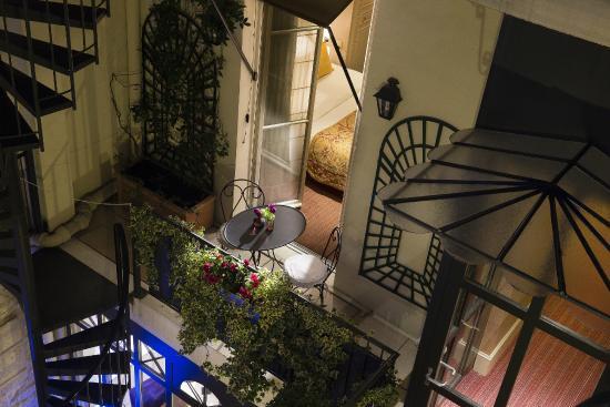 Hotel Arioso: Balcon privé