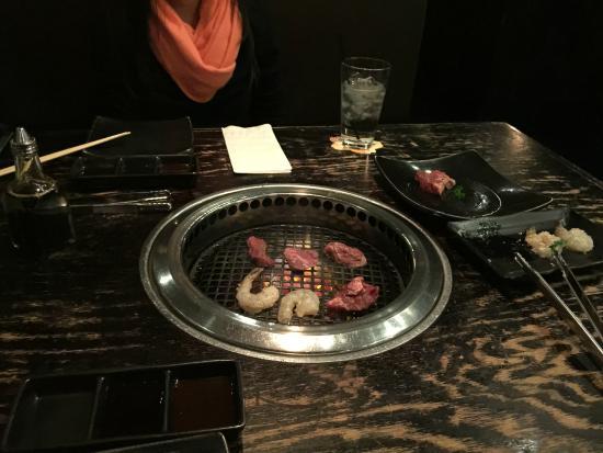Gyu-Kaku Japanese BBQ Dining : Camarão e filé mignon