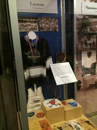 Nanaimo Museum: Lacrosse display