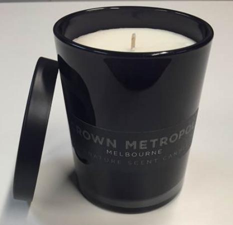 Crown Metropol Melbourne: Crown Metropol scented candle purchased for $25 from the concierge desk