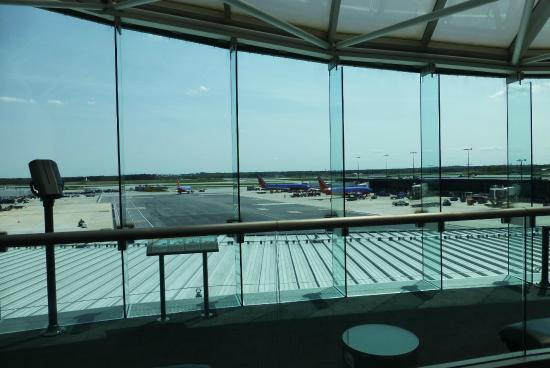 The Observation Gallery at BWI Marshall: View from a rocking chair