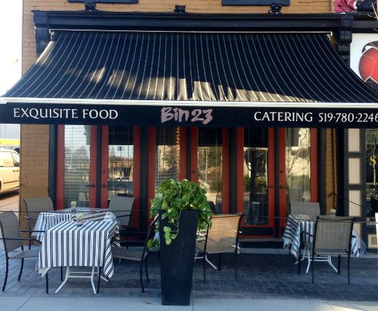 Bin23: Relax and dine on our beautiful patio!