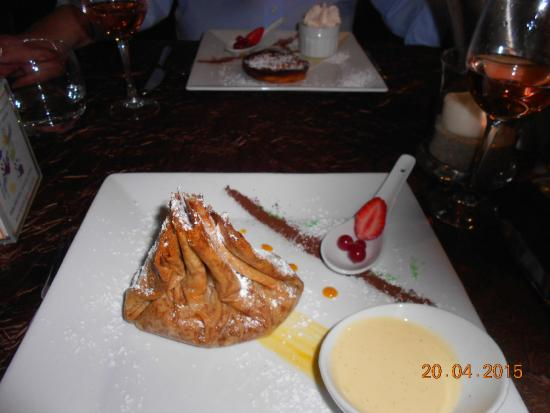 Hotel Continental : Caramalised apple parcel with armagnac!