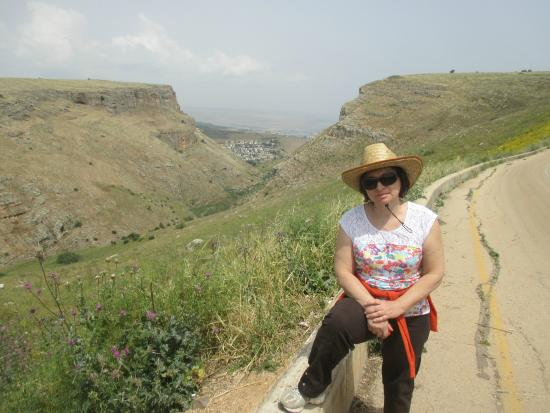 Arbel National Park : The view from the Arbel ridge on the way to the cliff