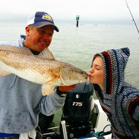Galveston flounder gigging fotograf a de fishing for Fishing galveston tx