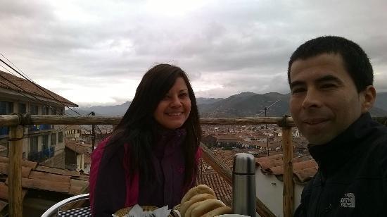 Rumi Wasi: Vista de la terraza a la hora del desayuno