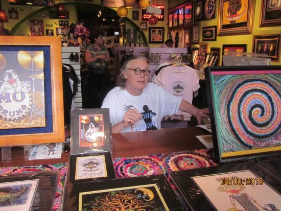 Jamie Hayes Gallery: Jamie, the artist, signing his work