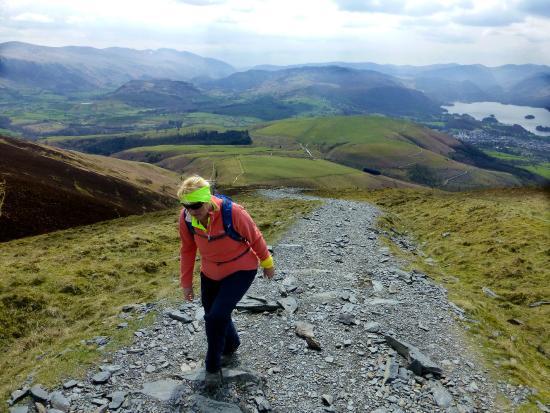 Skiddaw: Stiff climb.