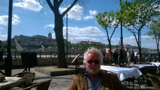 Benczur Hotel: Mick enjoying the sunshine