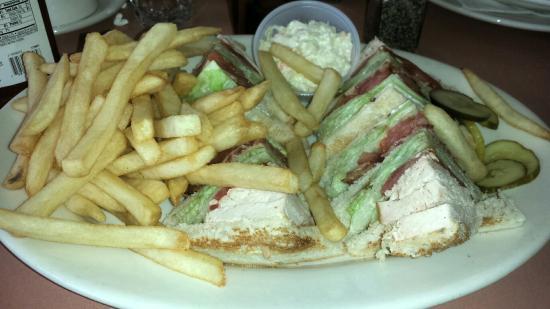 Terrific Turkey Club Sandwich And The Giant Homer Glen Salad