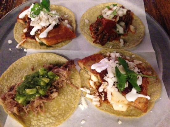 Taco Joint: Selection of tacos