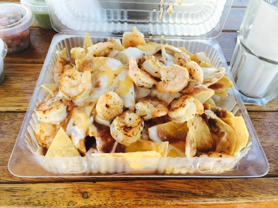 Mandala Cancun: Nachos com camarões