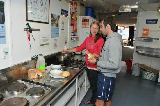 YHA Auckland City kitchen