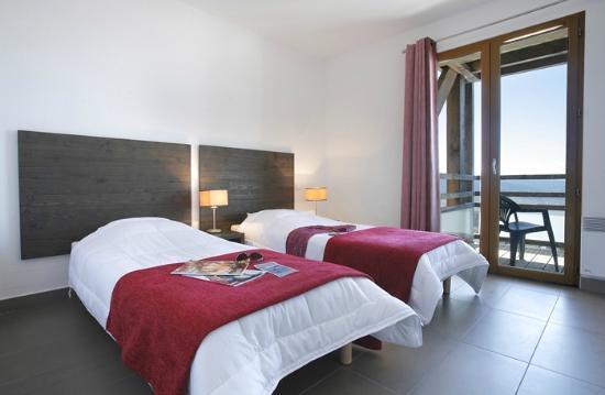 Residence Le Pic de l'Ours : Chambre 2 lits