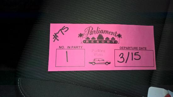 Parliament Resort (Gay Male Only): Parking Pass