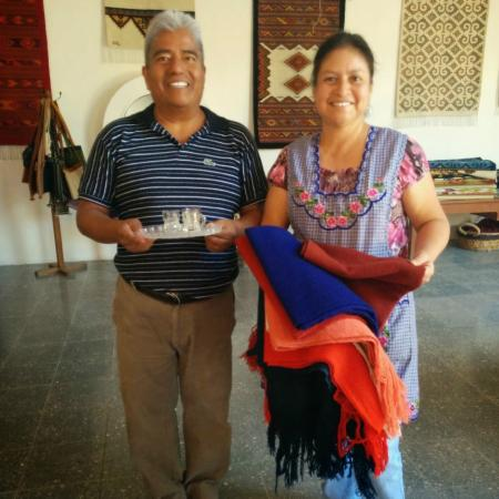 Isaac Vasquez Studio: Jeronimo and his wife shared Mescal with us