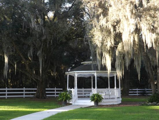 Palmer House Bed and Breakfast: Beautiful grounds and gazebo.