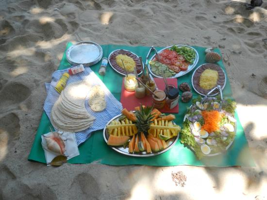 Coral Sea Kayaking : Fresh and tasty picnic lunch on our Dunk Island day trip.