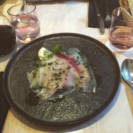 Sale e Pepe: Swordfish carpaccio