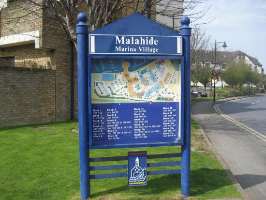 Malahide, Ireland: Marina map