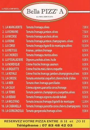 Saint-Aygulf, Fransa: Nos pizza